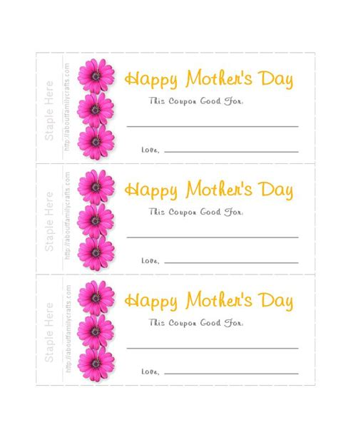 mothers day picture books how to make s day printable coupons