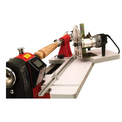 woodworking with the router psi woodworking lixga2 lathe mounted fluting guide with