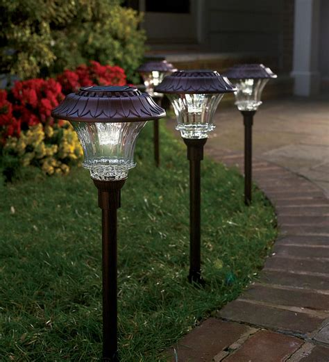 bright solar landscape lights lighthouses with solar lights outdoor images