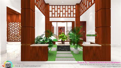 kerala home design courtyard courtyard kitchen and bedroom interiors kerala home
