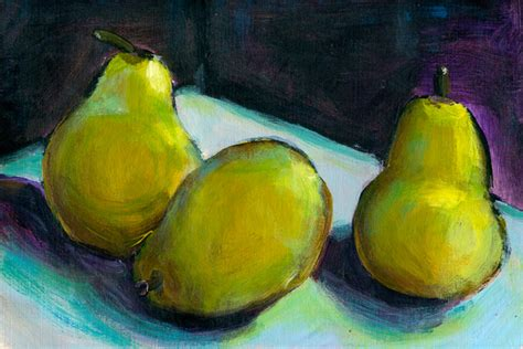 Acrylics Painting 101 Still Fruit