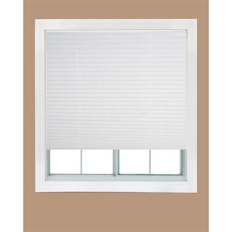 Redi Shade White Fabric Corded Light Filtering Pleated
