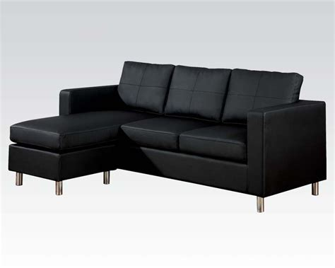 reversible chaise sectional sofa reversible chaise sectional sofa kemen black by acme