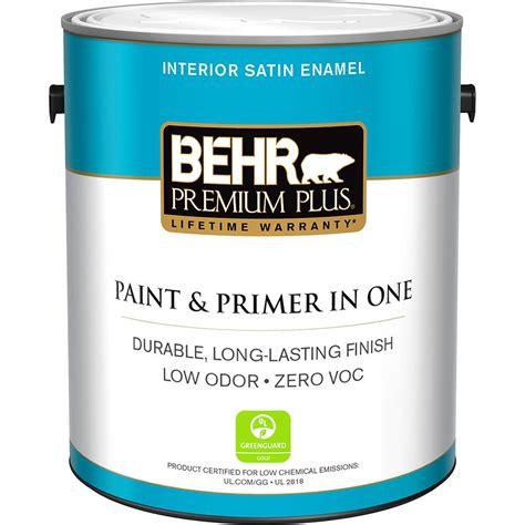Behr Premium Plus 1 Gal Medium Base Satin Enamel Zero Voc