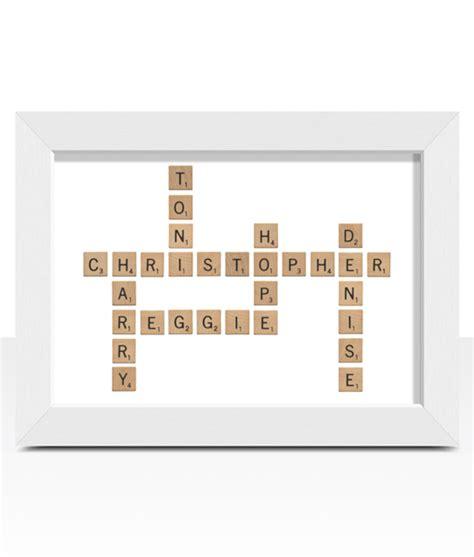 small scrabble words crossword style word print abc prints