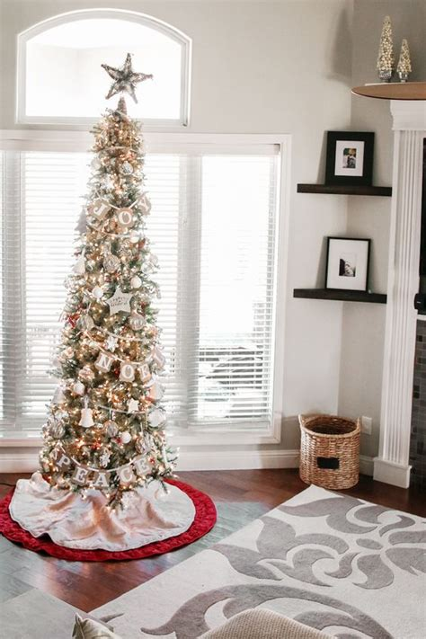 ideas for decorating white trees stunning slim tree decorating ideas