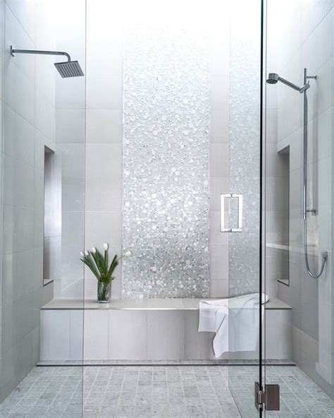 bathroom tile ideas picture of sparkling silver shower tiles
