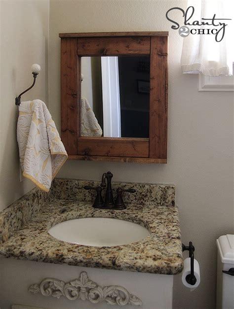 diy bathroom mirrors wood mirror diy shanty 2 chic