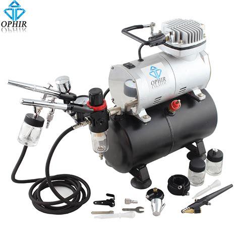 spray paint gun compressor ophir 3x dual airbrush with air compressor spray