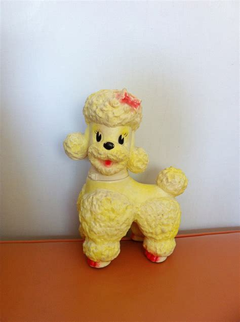 poodle rubber st on reserve 1960s yellow sun rubber co poodle by
