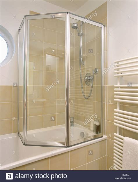 shower glass for bath folding glass shower doors on bath in modern bathroom with