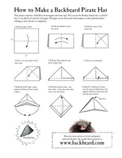 how to make an origami pirate hat how to make a paper hat pirate hats and dramatic play