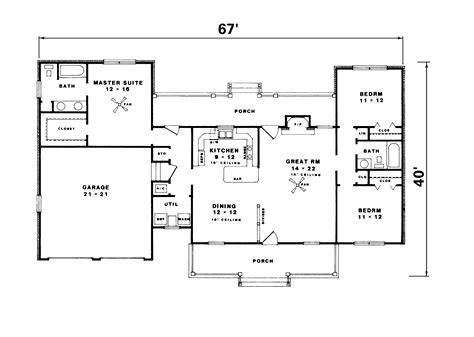 house plans 1500 sq ft ranch home country house plans on 1500 sq ft floor 15