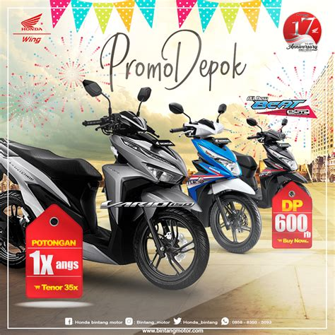 Pcx 2018 Depok by Promo Bintang Motor Depok September 2018 Honda Bintang Motor