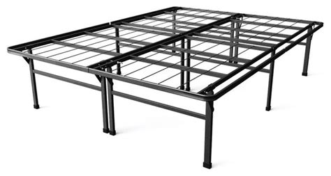high size bed frame california king size 18 quot high rise metal platform bed