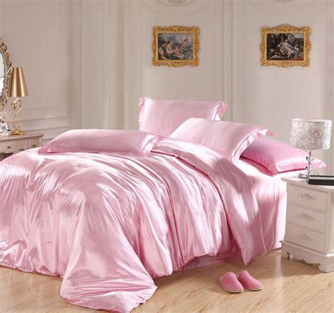 pink bed sheets light pink bedding sets silk sheets satin california king