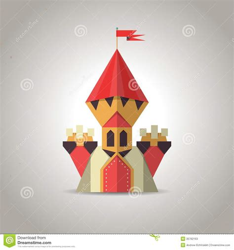 how to make a origami castle origami castle from folded paper icon stock vector