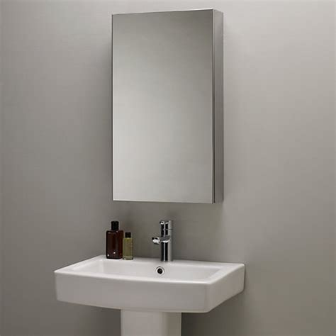 stainless steel mirrored bathroom cabinet buy lewis single mirrored bathroom cabinet large