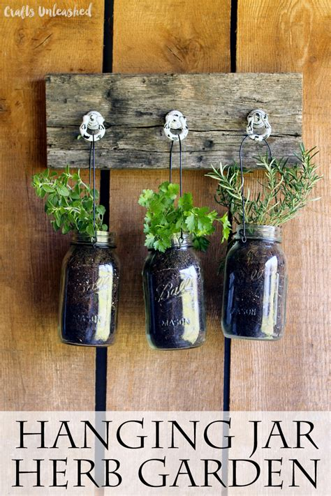 jar herb garden wall diy hanging garden for jarred herbs crafts unleashed