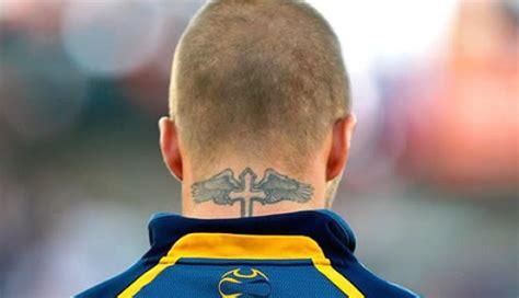 david beckham neck tattoo tattoo collections