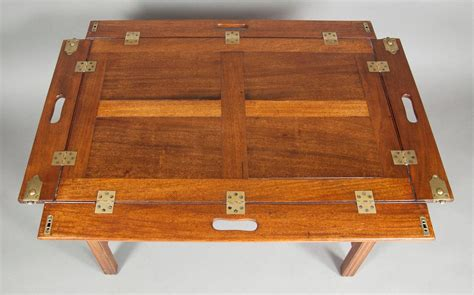 butlers tray coffee table mahogany caign style butlers tray coffee