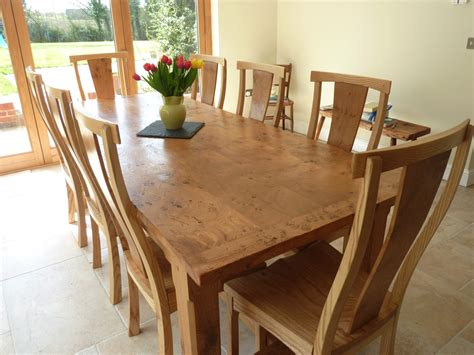 large kitchen tables quercus furniture bespoke handmade table oak refectory