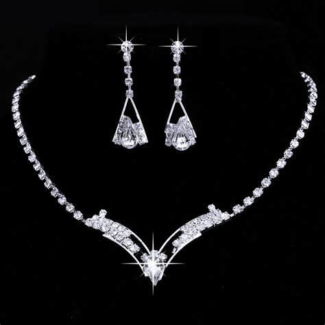rhinestone for jewelry sparkling v shaped rhinestone necklace