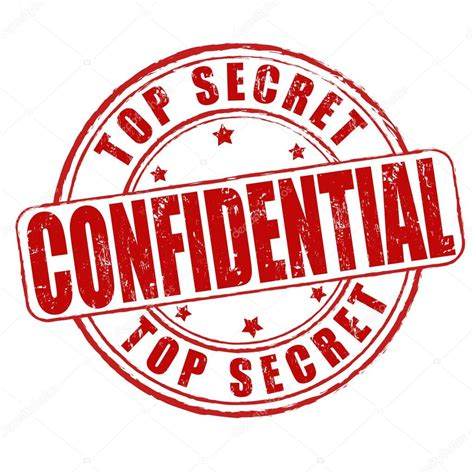 confidential rubber st top secret confidential st stock vector
