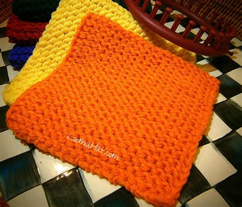 knitting with a loom knit squares free pattern loomahat