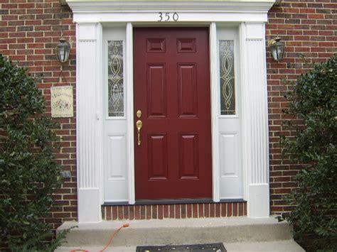 exterior door paint front door after omni construction company apex nc
