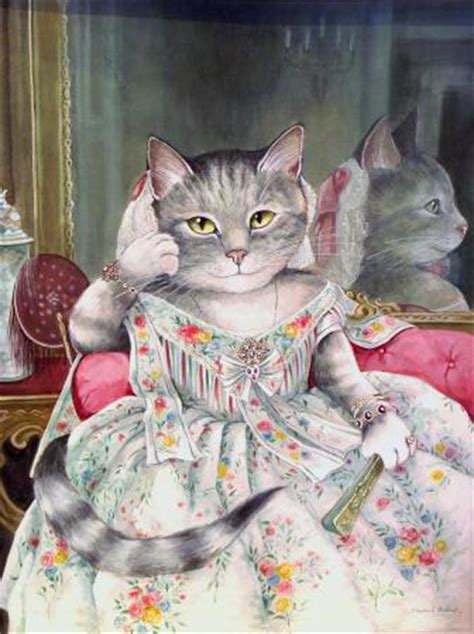 cat painting viva merveilleux chats de susan herbert