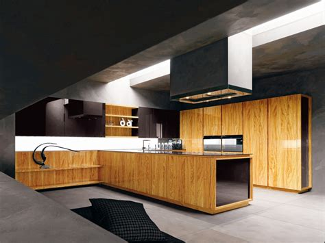 modern kitchen with luxury wooden and marble finishes