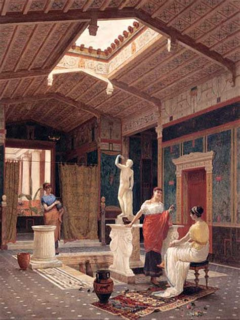 The Domus Included Multiple Rooms Indoor Courtyards Gardens And Beautifully Painted Walls