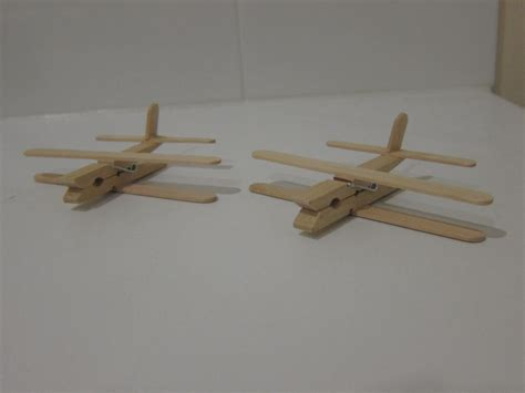 paddle pop stick craft for wooden peg aeroplanes busy kid