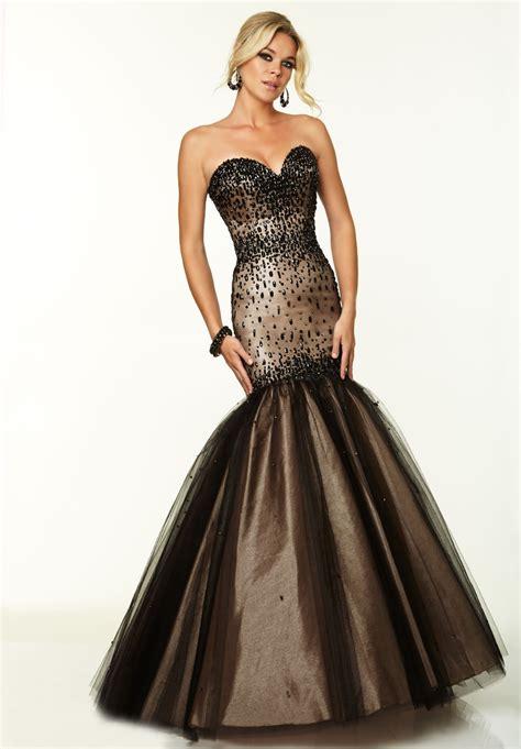 beaded mermaid prom dress new strapless beaded bodice black mermaid prom dress in