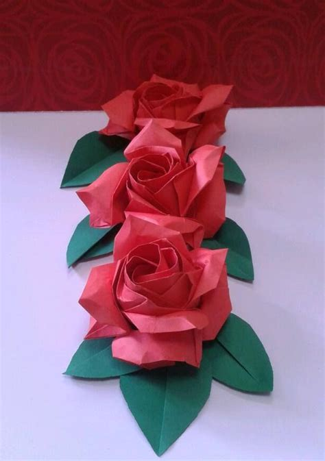 origami paper roses 25 best ideas about origami on origami