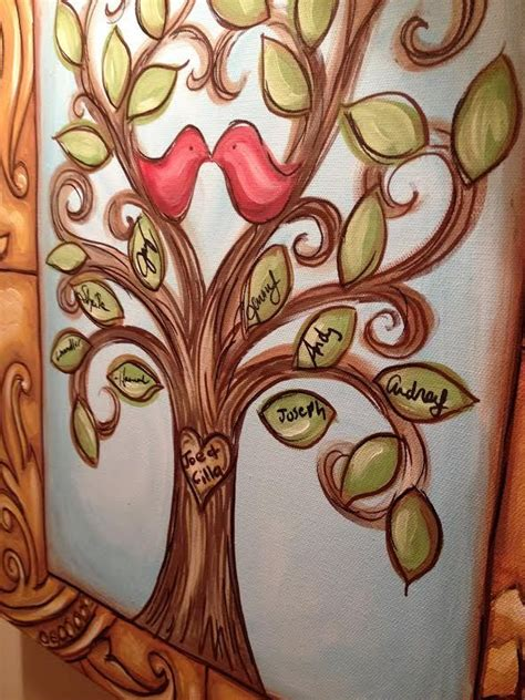 25 best ideas about tree canvas paintings on