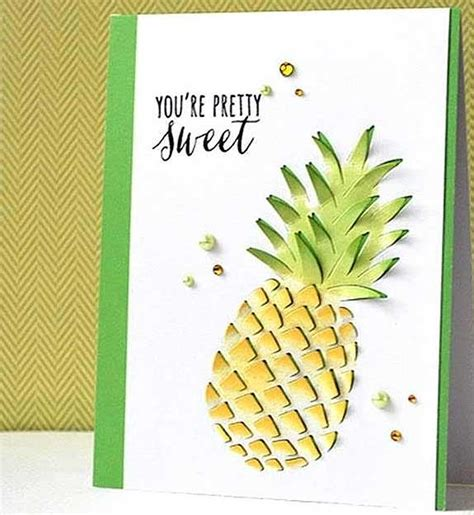 pineapple paper craft you re sweet pineapple card arts