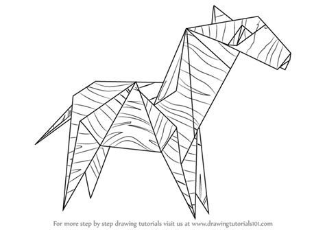 origami drawing learn how to draw an origami zebra everyday objects step