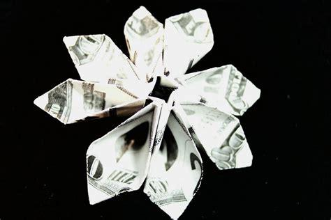 origami money flower with one bill dollar bill flower module diagrams flotsam and origami