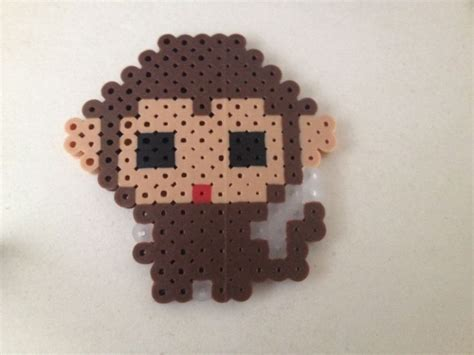 perler monkey pattern pin by tatiana brower on crafts with perler