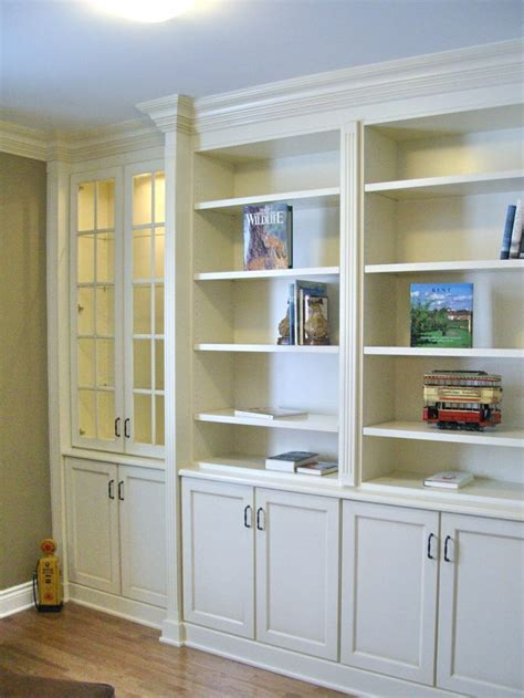 antique white bookshelves built in bookcases with fluted column detail large crown