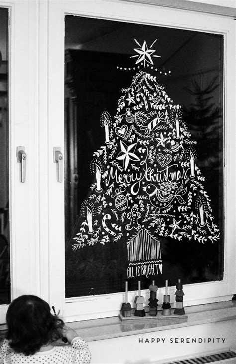 Fensterdeko Weihnachten Sprühschnee by Diy Opulente Weihnachtliche Fensterdeko Mit Kreidemarker