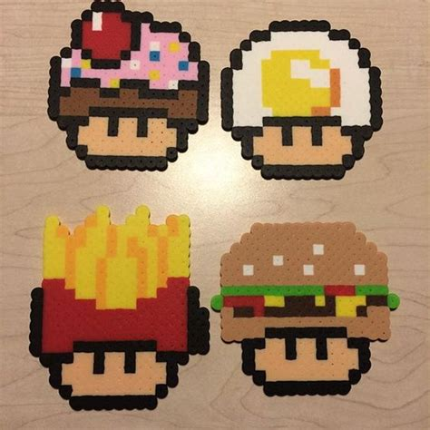 food perler food mushrooms perler by awesomeangela13 perler hama