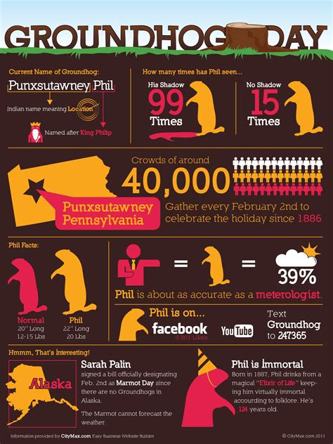Groundhog Day Facts Visual Ly