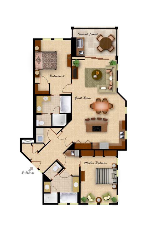2 bedroom villa floor plans kolea floor plans