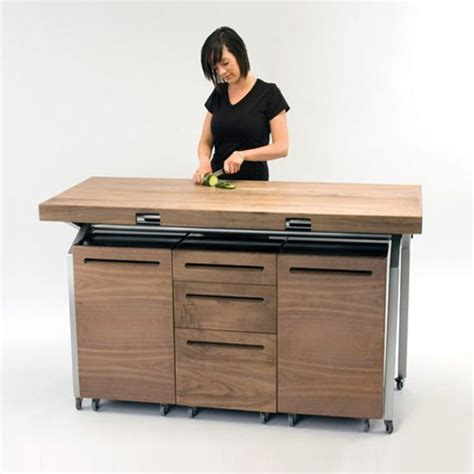 compact kitchen tables expandable dining table doubles as compact kitchen island