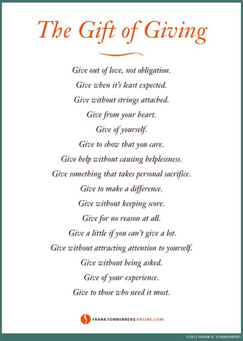 quotes on gifts quotes about gift giving quotesgram