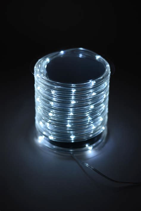 mini rope lights battery operated mini led rope light cool white 15ft 60ct