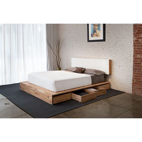 bed frame with headboard and storage bed frame with storage a smart solution for